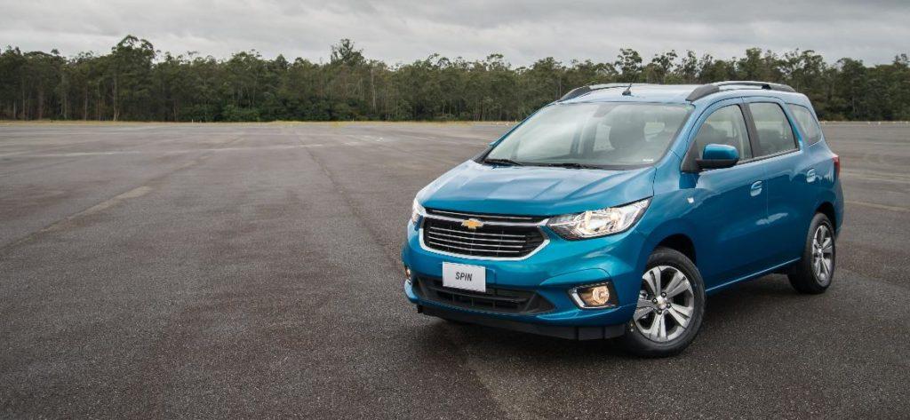 Nouveau modèle Chevrolet Spin 2020